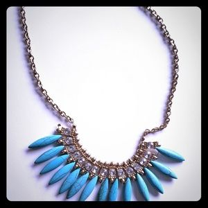 Teal with cz's necklace